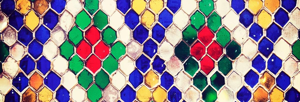 Arenas de color / Estaño / Mosaico