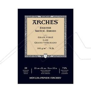 ARCHES BLOC DIBUJO 20 HOJAS VERJURADO 105 GRS