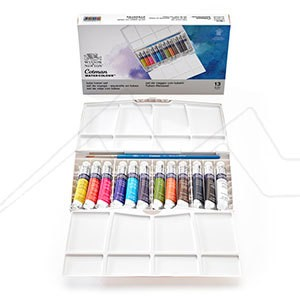 CAJA PINTOR PLUS COTMAN 12 TUBOS 8 ML + PINCEL