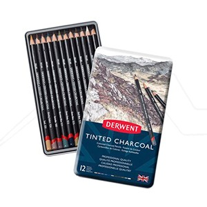 DERWENT TINTED CHARCOAL CAJAS METÁLICAS