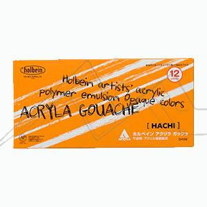 HOLBEIN ACRYLA GOUACHE HACHI SET D402 - SET 12 TUBOS