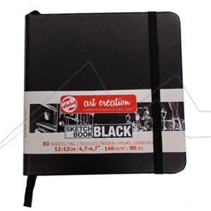 ART CREATION SKETCH BOOK BLACK BLOC - BLOC HOJAS NEGRAS