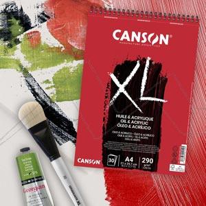 CANSON XL BLOC ÓLEO Y ACRÍLICO 290G