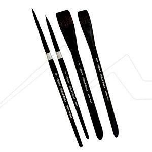 SILVER BLACK VELVET SET 4 PINCELES SERIE WC3202S