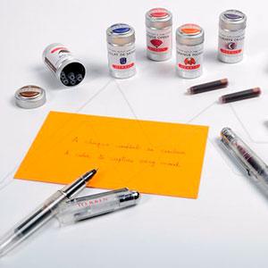 HERBIN CAJA DE METAL CON 6 CARTUCHOS DE TINTA WRITING AND DRAWING TRADICIONAL INK - TINTA TRADICIONAL PARA DIBUJO Y ESCRITURA