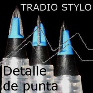 PENTEL TRADIO STYLO - Pluma con punta de plástico flexible
