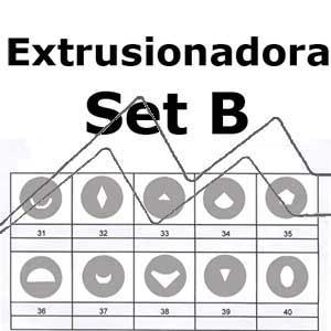 MAKIN´S SET 10 DISCOS PARA EXTRUSIONADORA PROFESIONAL