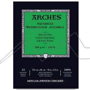 ARCHES BLOC ACUARELA 12 HOJAS 300 GRS.