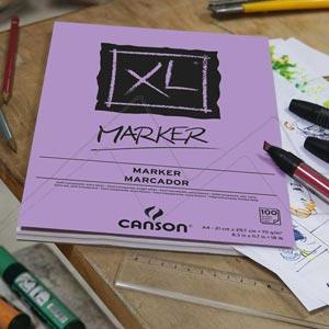 CANSON BLOC XL MARKER - BLOC PARA ROTULADOR 70 GRS. ENCOLADO 100 HOJAS