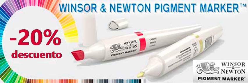 OFERTA ESPECIAL, WINSOR NEWTON PIGMENT MARKER, - 20% DESCUENTO