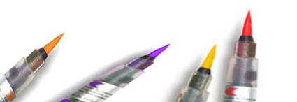 Rotuladores con punta de pincel