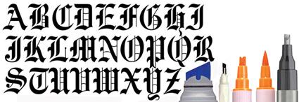 Rotuladores de caligrafía y Lettering